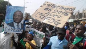 Meeting de l'opposition à Bonfi : ''Alpha Condé doit partir en 2015'', selon Cellou Dalein Diallo