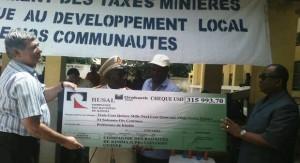 Kindia: Rusal offre un chèque de près de 3 milliards GNF aux communautés