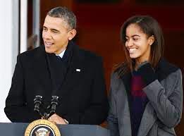 obama et sa fille